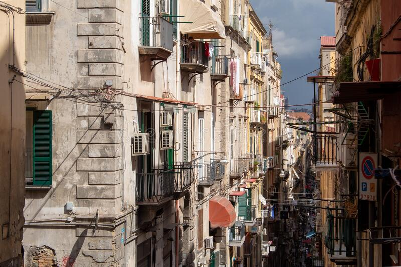 Streets of Naples royalty free stock images
