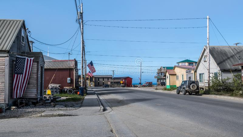 Streets of Nome stock photography