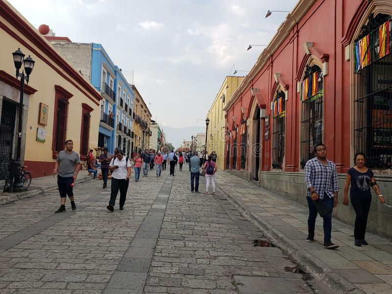 The Streets of Oaxaca. Colors, brightness, walk stock photography