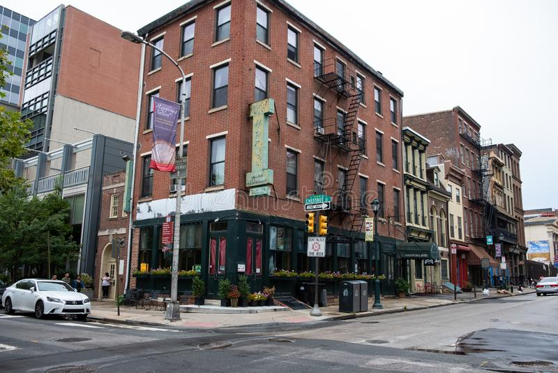 Streets of old city Philadelphia. royalty free stock photos