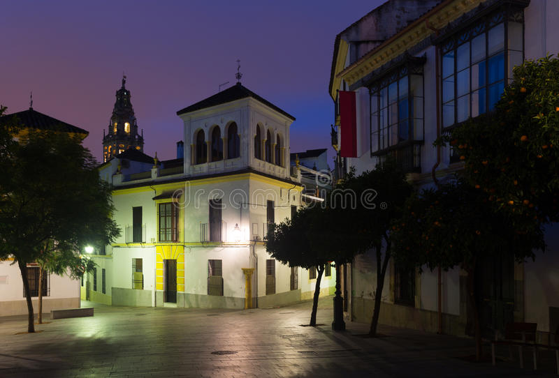 Streets of old Cordoba in early morning royalty free stock photography