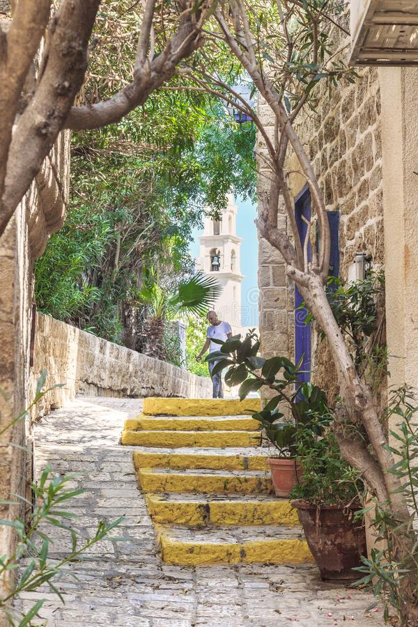 The streets of old Jaffa, Israel royalty free stock images