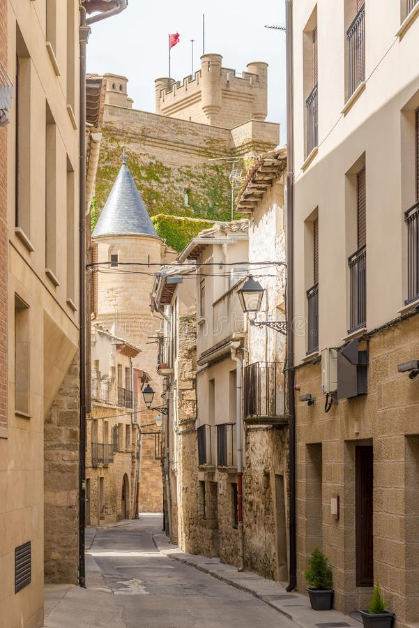 In the streets of Olite in Spain royalty free stock photography