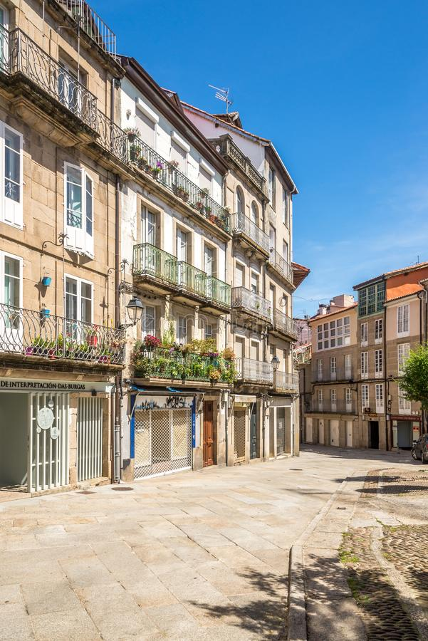In the streets of Ourense in Spain. OURENSE,SPAIN - MAY 14,2019 - In the streets of Ourense. Ourense is  the capital of the province of the same name in Galicia royalty free stock photos