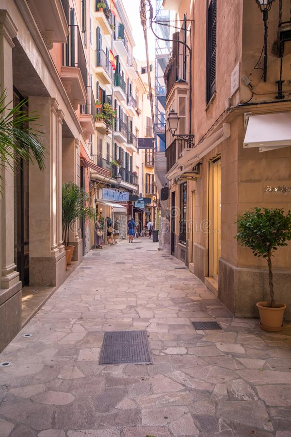 Streets of Palma de mallorca royalty free stock photos