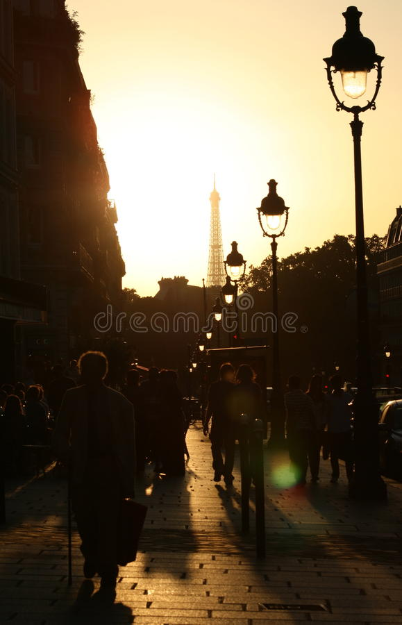 Streets of Paris royalty free stock photos