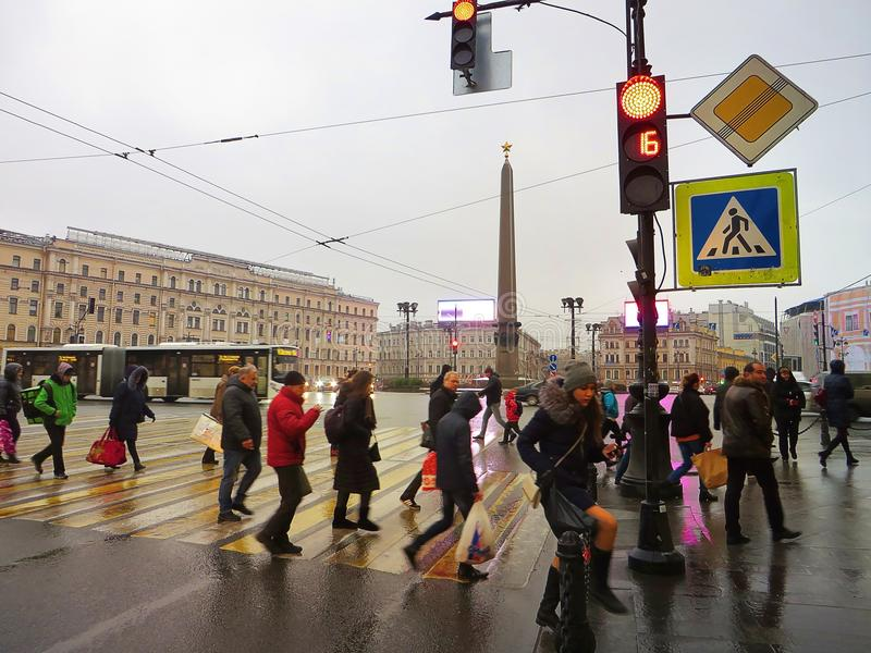 Streets of Petersburg. Russia. Tourist attraction stock photo