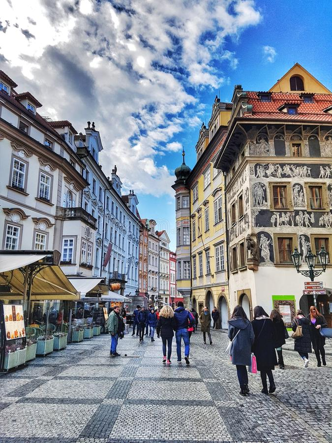 Streets of Prague stock images
