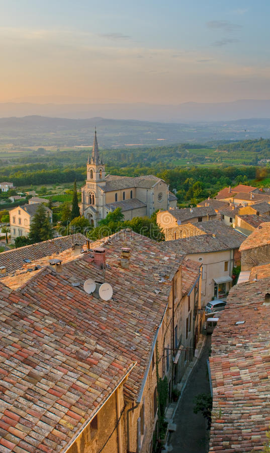 Streets of provencal town stock photos
