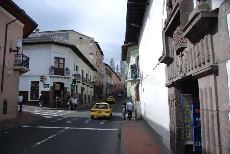 Streets of Quito royalty free stock photography