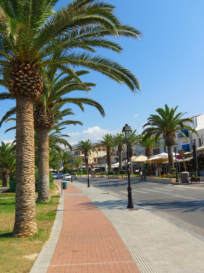 The streets of Rethymno are striking in beauty royalty free stock photos