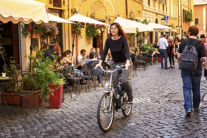 In the streets of Roma Italia royalty free stock photos