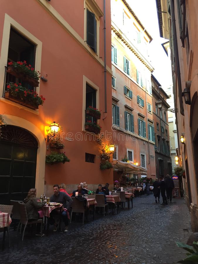 Streets of rome in italy royalty free stock photos