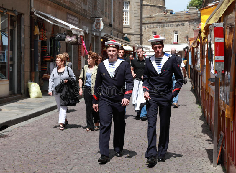 The streets of Saint Malo royalty free stock images