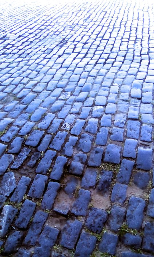 Streets that saw history. Preserved, cobblestone streets witnessed the events that changed the country`s history.nOuro Preto, Minas Gerais, Brazil stock photography
