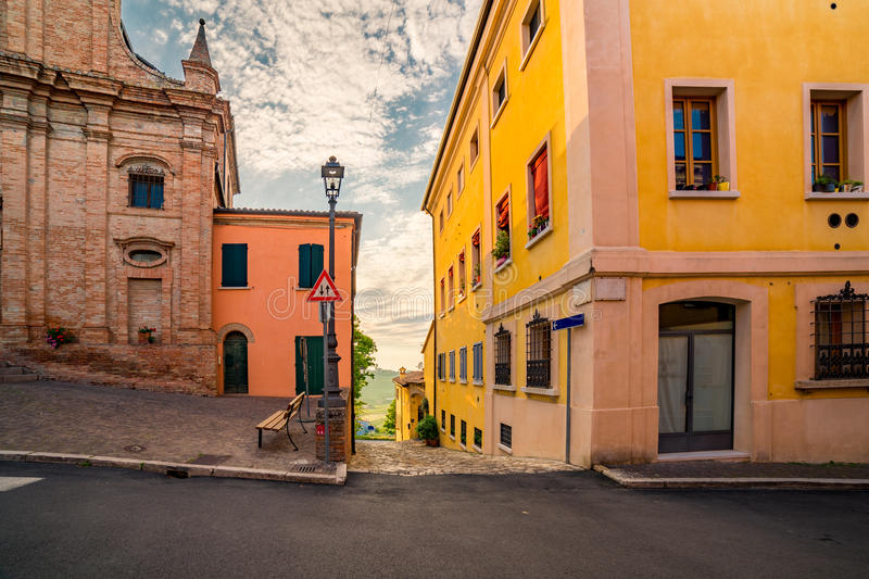 Streets of small hilltop village royalty free stock images