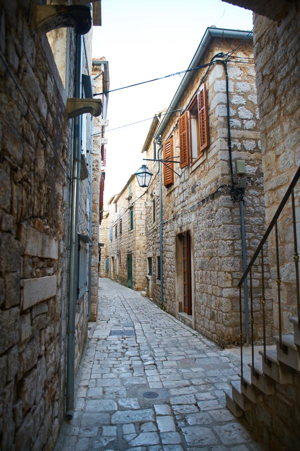 Streets of Stari Grad stock images