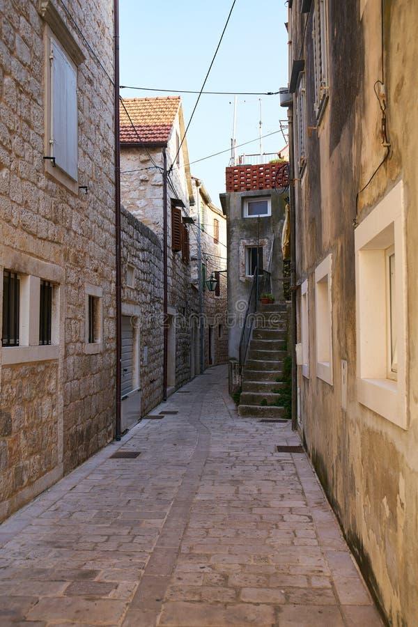 Streets of Stari Grad. Narrow streets of Stari Grad town, Hvar, Croatia stock photography