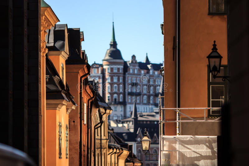 Streets of Stockholm, Sweden royalty free stock images