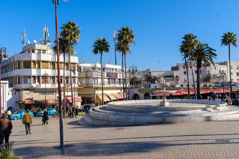 Streets of Tangier royalty free stock photo