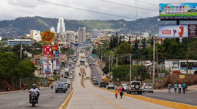 Streets of Tegucigalpa in Honduras.  royalty free stock photography