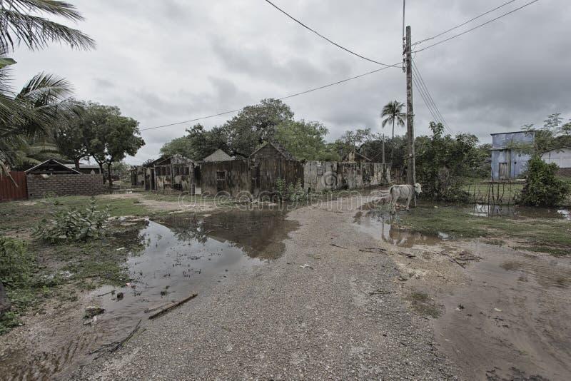 Streets in Thondaimanaru Sri Lanka stock image