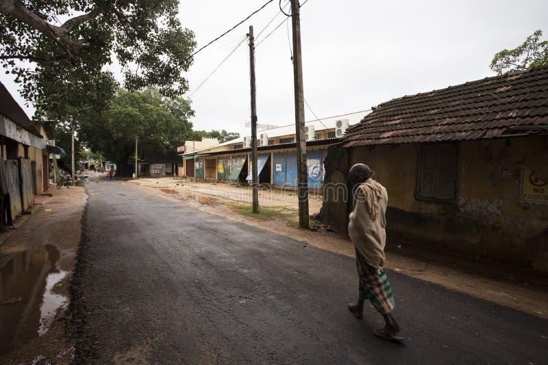 Streets in Thondaimanaru Sri Lanka stock photo