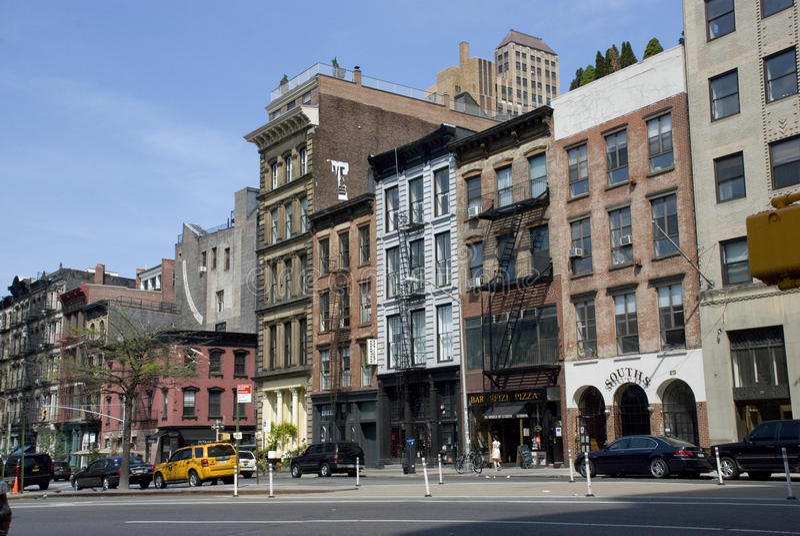 Streets of Tribeca in New York City, Manhattan stock photos