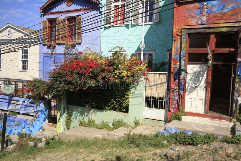 Streets of Valparaiso, Vina Del Mar, Chile stock photo