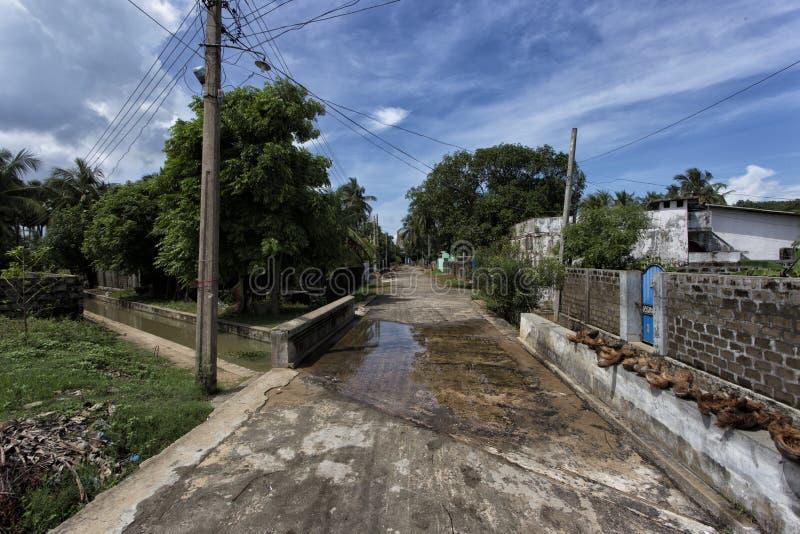 Streets of valvettithurai in Sri Lanka royalty free stock photo