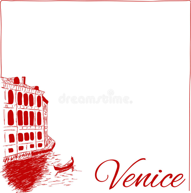 Streets in Venice royalty free illustration