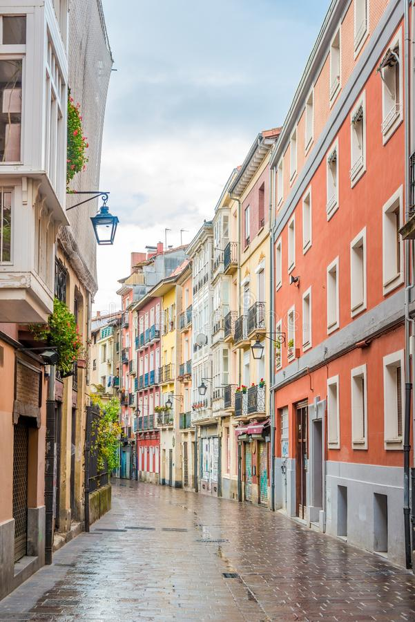 In the streets of Victoria-Gasteiz,Spain stock images