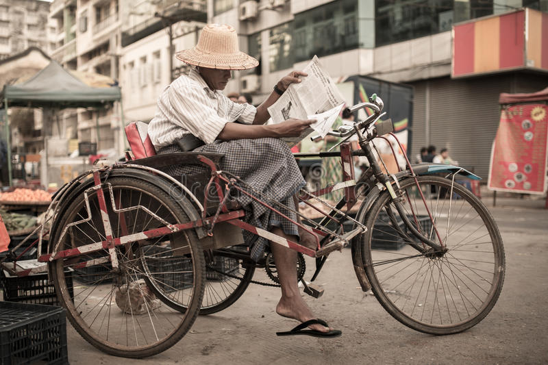 Streets of Yangon royalty free stock images