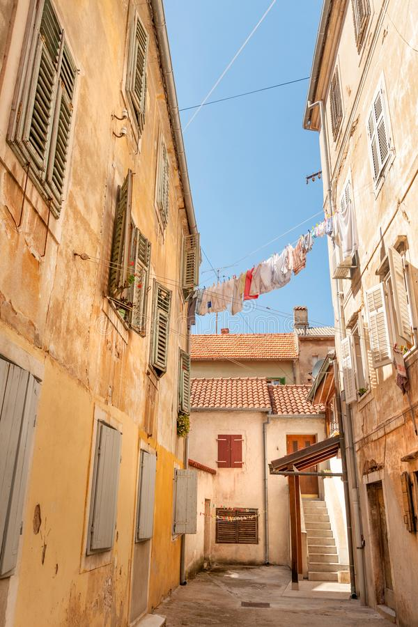 Streets of Zadar royalty free stock image