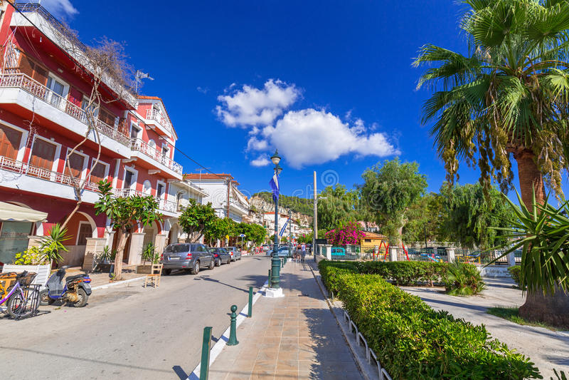 Streets of Zante town on Zakynthos island stock photography