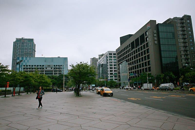 Streetscape в Тайбэе стоковые изображения rf