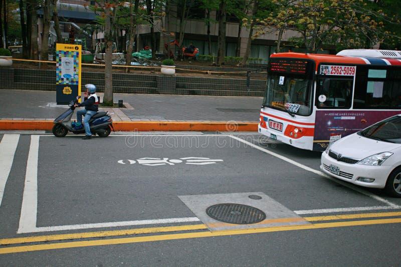 Streetscape в Тайбэе стоковое изображение