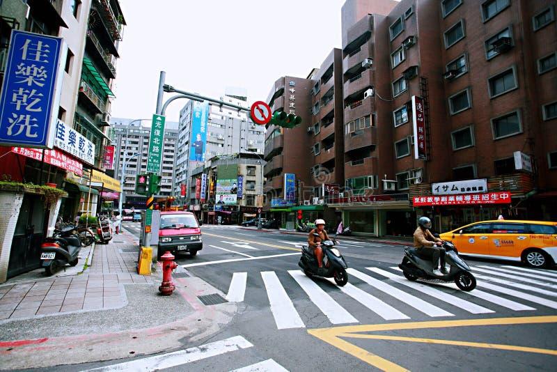 Streetscape в Тайбэе стоковые изображения