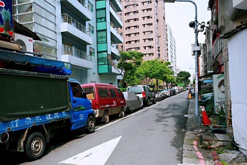Streetscape в Тайбэе стоковые фото