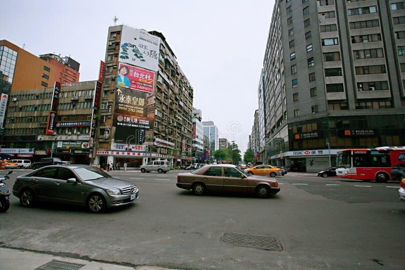Streetscape в Тайбэе стоковая фотография rf