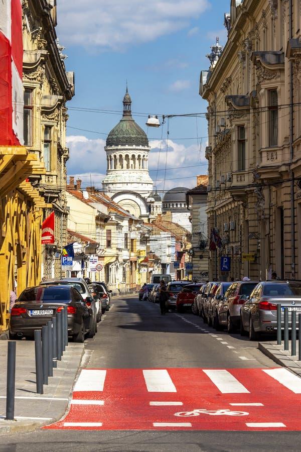 Streetscape cluj-Napoca, Румынии стоковая фотография rf