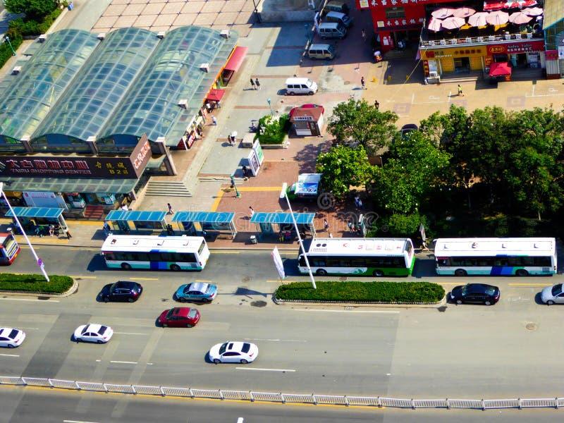 Streetscape da cidade de Qingdao fotografia de stock royalty free