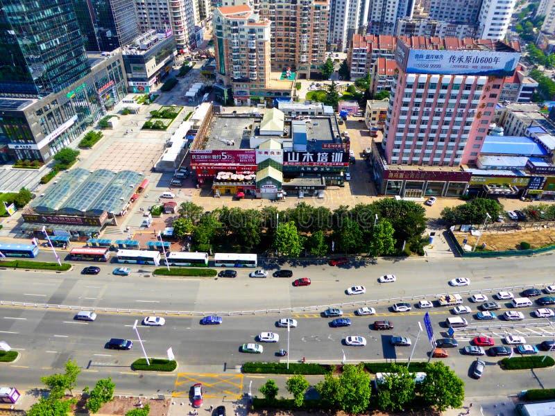 Streetscape da cidade de Qingdao imagem de stock royalty free