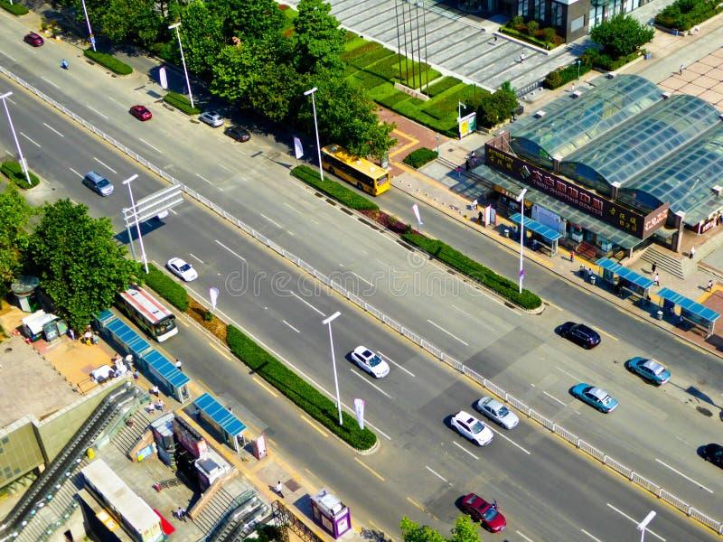 Streetscape da cidade de Qingdao imagens de stock