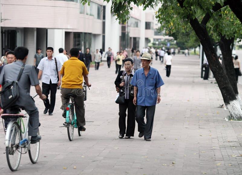 Streetscape 2013 De Pyongyang Imagen de archivo editorial