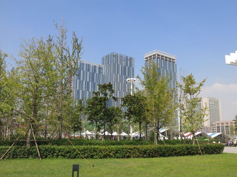 Streetscape de Qingdao fotografía de archivo libre de regalías