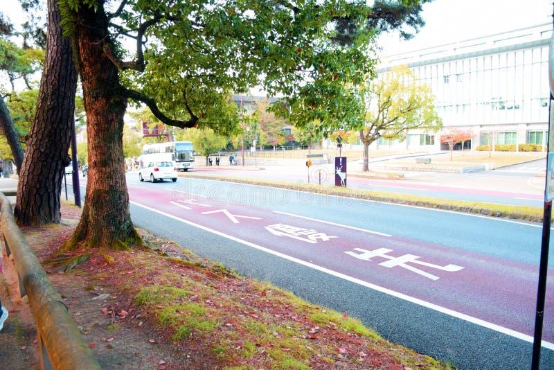Streetscape en Nara Park, Nara photographie stock libre de droits