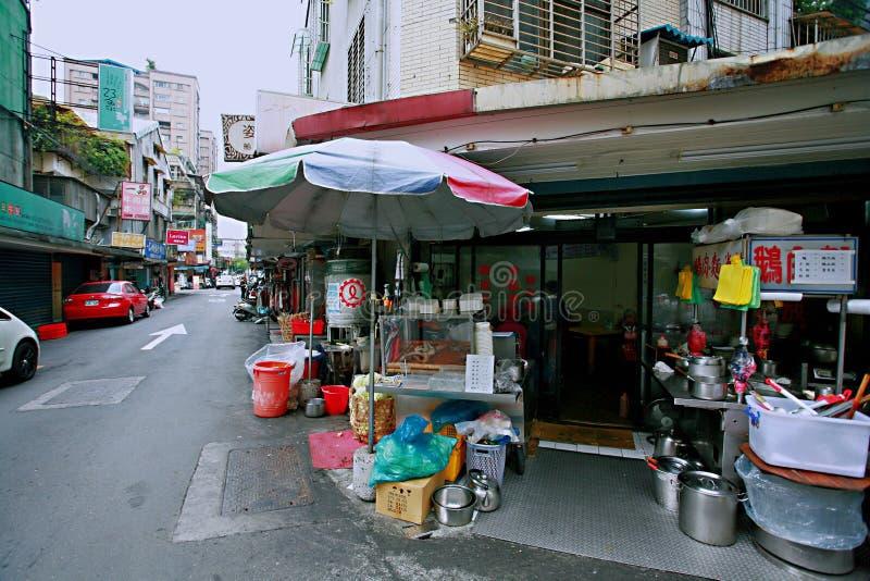 Streetscape i Taipei royaltyfria foton