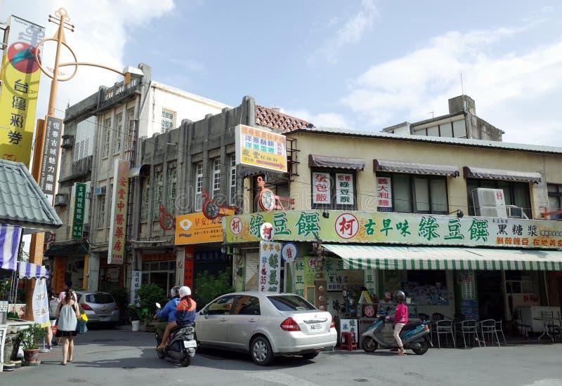 Streetscape på Hengchun, Tainan, Taiwan arkivfoton
