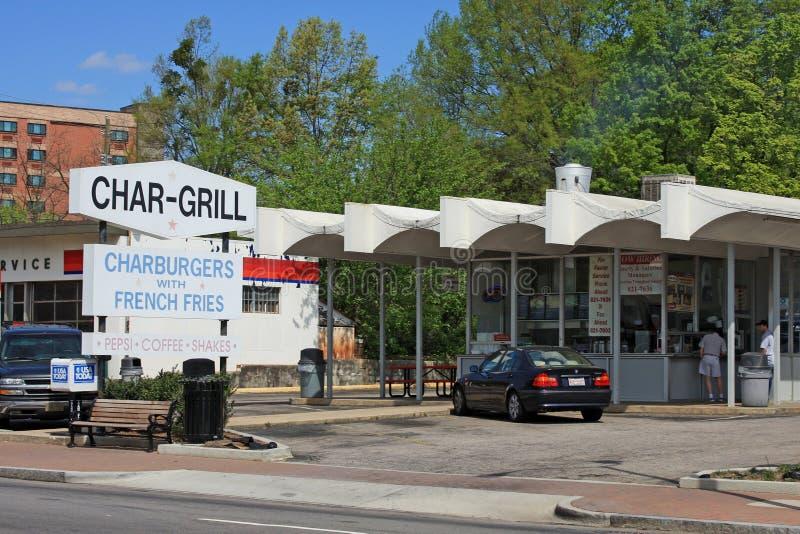Streetscape Raleigh - Чарс-гриль стоковая фотография rf
